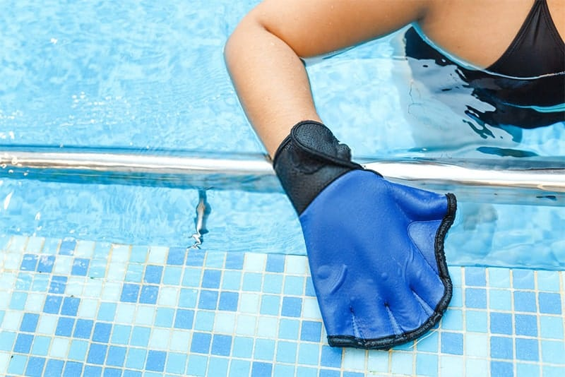Beco Aqua Swimming Gloves Easy Fastening Swim Training Neoprene Mitts