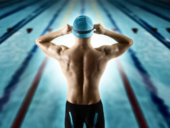 how to put on a swim cap